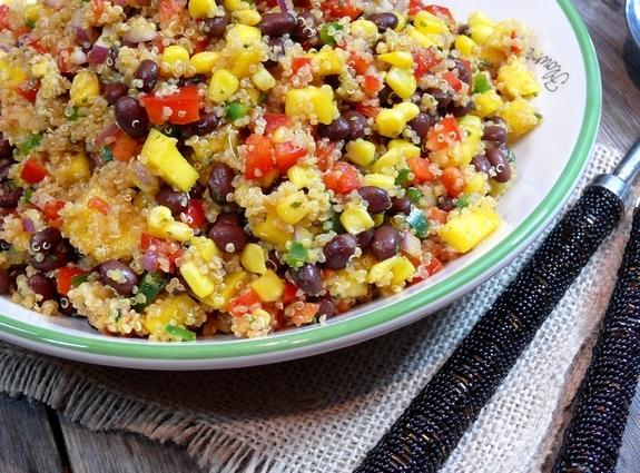 June's Recipe: Southwestern Black Bean, Quinoa and Mango Medley